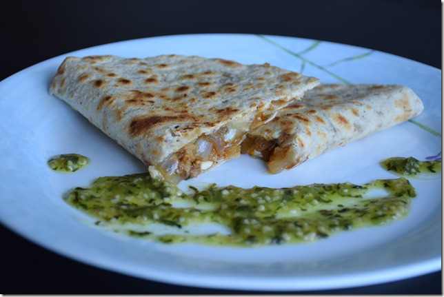 Mushroom and Onion Quesadillas 020