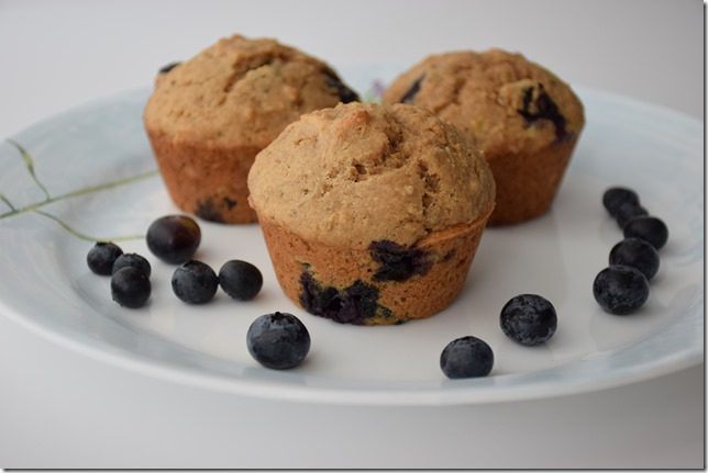 Blueberry Banana Muffins 017
