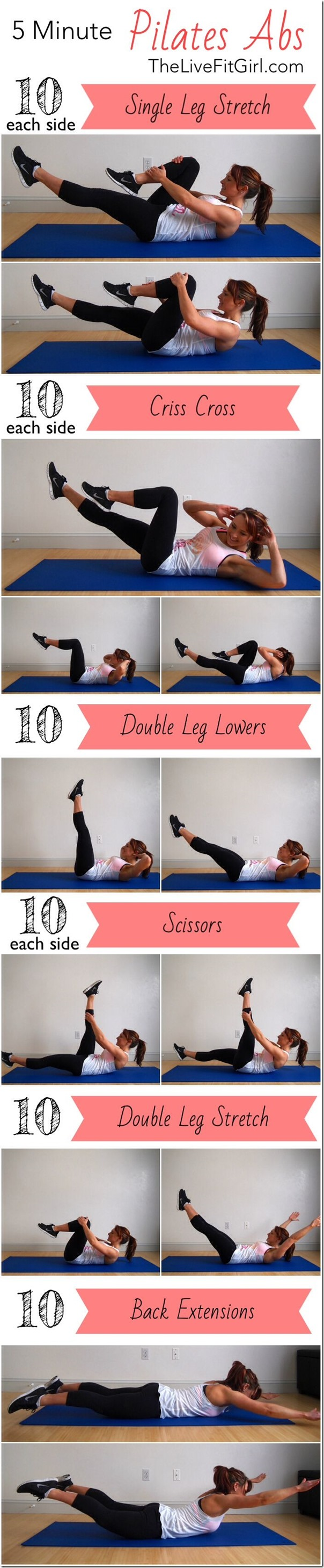 5 minute ab routine